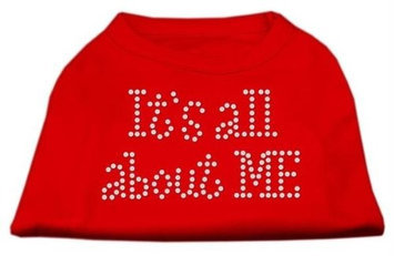 Mirage Pet Products 5203 XLRD Its All About Me Rhinestone Shirts Red XL 16