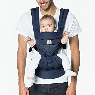 Ergobaby Omni 360 Cool Air Mesh Ergonomic Baby Carrier All Carry Positions, Newborn to Toddler, Midnight Blue [Cool Air Mesh]