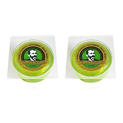 Col. Conk Lime Glycerine Shave Soap 2.25 oz. (Pack of 2)
