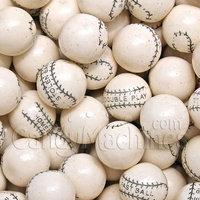 Candymachines Gumballs By The Pound - 5 Pound Bag of White Baseballs