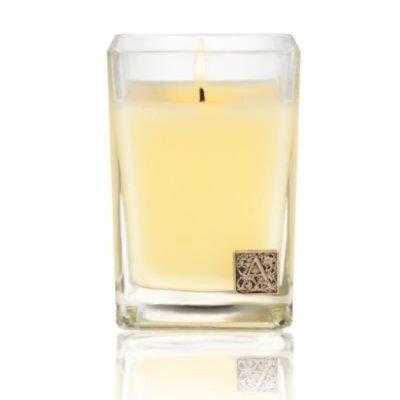 Orange & Evergreen Cube Candle