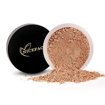 Flash-friendly Loose Powder Face Powder With Puff, No Ashy Flashback in Selfies & Photos- Long Lasting Lightweight Oil Control 0.53oz