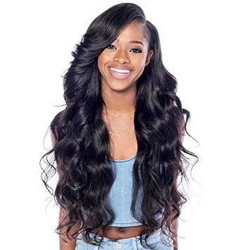 Trebellar Brazilian Lace Front Body Wave Wigs Human Hair Glueless Full Lace Human Hair Wigs with Baby Hair for Black Women Side Part with Bangs 150% Density Natural Color 18Inch Lace Front Wig