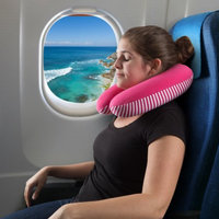 Trademark Global Llc Memory Foam Travel Pillow- Extra Neck Support Design Pillow with Pillowcase Protector for Sleeping, Airplanes and Train by Somerset Home