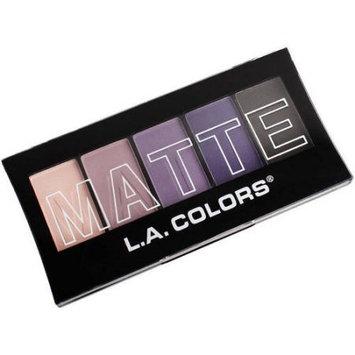 LA Colors Matte Eyeshadow, Purple Cashmere, 5 Ct