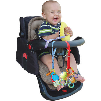 Baby Buddy Secure-A-Toy, Safety Strap Secures Toys, Teether, or Pacifiers to Strollers, Highchairs, Car Seats—Adjustable Length to Keep...