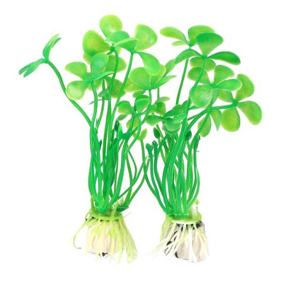 Fish Tank Green Underwater Plastic Plants Ornament 10 Pcs Xmiva