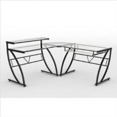 Z-Line Belaire Glass L Desk