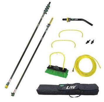 UNGER NLKU6 Water Fed Pole Kit,33 Ft. L,Black