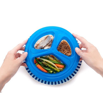 Portions Master Plate | Diet Weight Loss Aid | Food Management & Servings Control 155lbs / 77kg