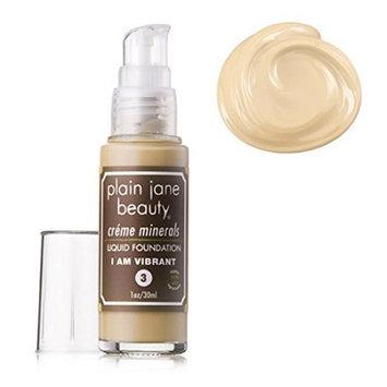 Plain Jane Beauty 232005 I Am Vibrant 3 Creme Minerals Liquid Foundation
