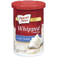Duncan Hines Whipped Fluffy White Frosting, 18 oz