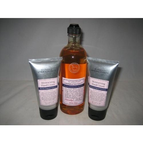 Bath & Body Works Aromatherapy Black Currant Vanilla Hand Cream - 3 tubes