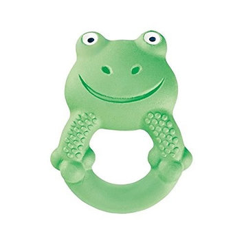 MAM Baby Toys, Teething Toys, Max The Frog 100% Natural Rubber Developmental Teether Toys, 'Friends' Collection, 4+ Months, Unisex, 1-Count