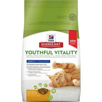 Hills Hill's Science Diet Youthful Vitality Adult 7+ Chicken & Rice Recipe Cat Food, 6 lbs.
