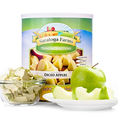 Saratoga Farms Freeze Dried Diced Apples, #10 Can, 9oz (255g), 20 Total Servings, Real Fruit, Fruit Smoothies, Snack, Food Storage, Every Day Use - No Additives or Preservatives