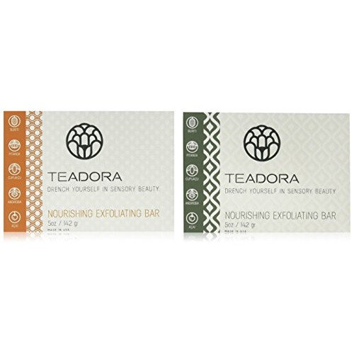 Teadora Face and Body Toning and Exfoliating Clay Bar Gift Set, 4 Count