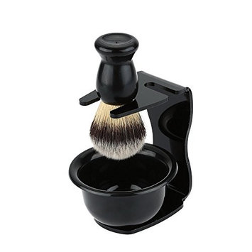 XIDAJE Acrylic Stand Holder for Shaving Brush Razor & Bowl & Brush Stand Cup Set