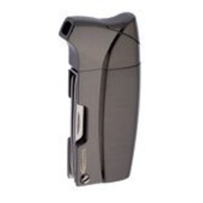 Vector KGM Colt Soft Flame Butane Pipe Lighter in Gunmetal Satin