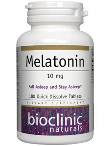 Melatonin 10mg 180 tabs by Bioclinic Naturals