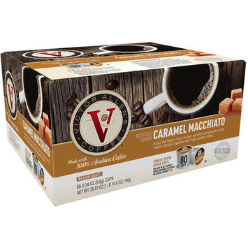 Victor Allen's Coffee Caramel Macchiato Medium Roast Single Serve Brew Cups, 0.34 oz, 80 count