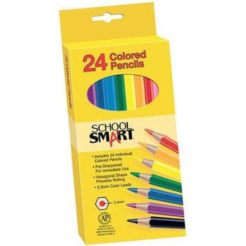 School Smart Non Toxic Waterproof Colored Pencils, Assorted Colors