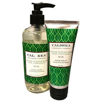 Caldrea Hostess Gift Set - Hand Balm Cream and Luxurious Hand Soap (Daphne Feather Moss)