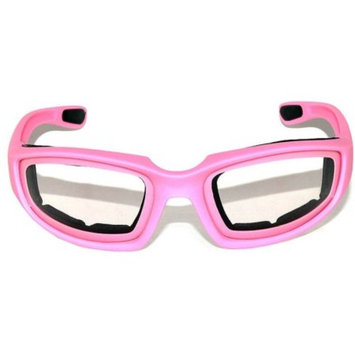OWL Eyewear Motorcycle Padded Glasses Pink Frame Clear Lens