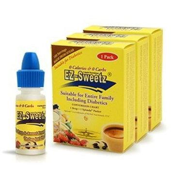 EZ-Sweetz (3 Pack 0.2 oz - Liquid Sweetener 180 Servings/Bottle)