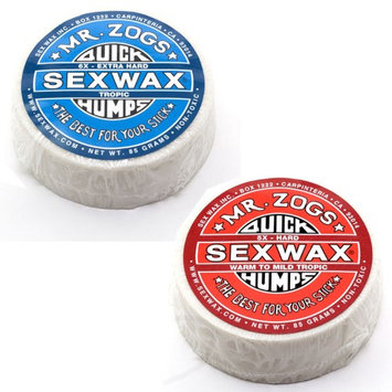 Sex Wax QUICK HUMPS SURF WAX Pack of 2, 5x and 6x Mr. Zogs