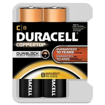Duracell - CopperTop C Alkaline Batteries with recloseable package - long lasting, all-purpose C battery for household and business - 8 count [8]