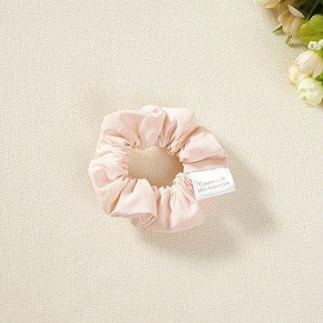silk hair scrunchies set of 2 pink crepe de chine