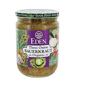 Eden Foods Three Onion Organic Sauerkraut - 18 oz (2 jars)