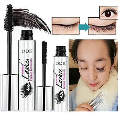Mascara Combination Set for Teens Girls Womens, Clearance Iuhan 4D Mascara Cream Makeup LashCold Waterproof Mascara Eyelash Extension (black)
