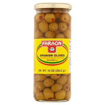 Faraon Foods Stuffed with Minced Pimientos Manzanilla Spanish Olives