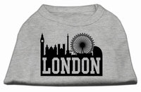 Mirage Pet Products 5169 MDGY London Skyline Screen Print Shirt Grey Med 12