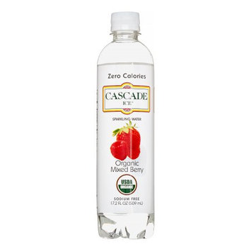 Cascade Ice Organic Sparkling Water, Mixed Berry, 17.2 Oz (Case of 12)