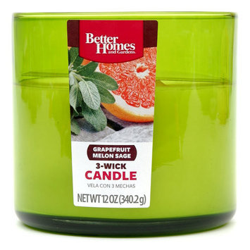 Better Homes and Gardens 12-Ounce Candle, Grapefruit Melon Sage
