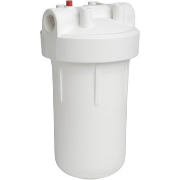 Ecopure High-Flow Whole Home Water Filtration System with Pressure Release Button, White