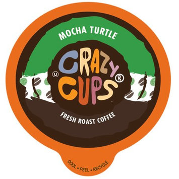 Crazy Cups Flavored Coffee, for the Keurig K Cups 2.0 Brewer, Mocha Turtle, 22 Count