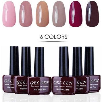 Gellen New Pink Series Gel Nail Polish Set - Selected 6 Colors, Nail Art DIY Home Gel Manicure Kit