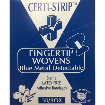 Adhesive Bandages - Fingertip Wovens BMD - Blue Metal Detectable 50/box 220-239