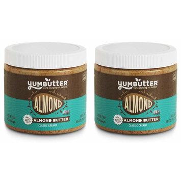 Keto Almond Butter by Yumbutter – No Added Sugar, Paleo, Gluten Free, Vegan, Non-GMO, 16oz Jar – Pack of 2 [Creamy Almond Butter - Classic]