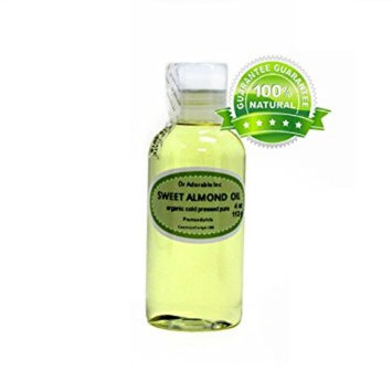 Dr. Adorable - 100% Pure Sweet Almond Oil Organic Cold Pressed Natural Hair Skin - 4 oz