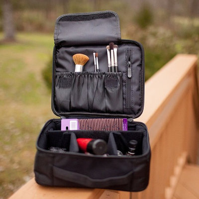 BEST Womens Professional Makeup Case Makeup Artist Cosmetic Train Case/ Cosmetic Organizer Big Makeup Bag - Makeup Organizer/ Designer Makeup Case