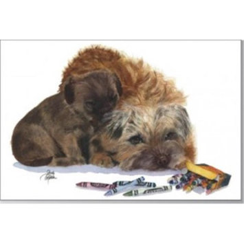 Rainbow Card Company GCU-102MCC Puppy Greeting Cards -12 Pack Muffin and Crumb Cake
