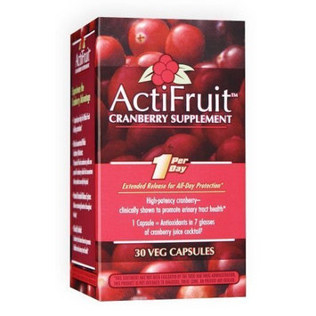 Enzymatic Therapy Actifruit Cranberry Supplement 30 Veg Capsules, Bottle (Pack of 2) by Enzymatic Therapy