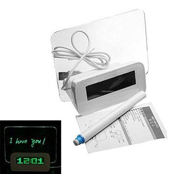 TOOGOO(R) LED Light Fluorescent Message Board Alarm Clock Calendar Thermometer 4 Port USB - Green