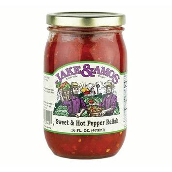 Jake & Amos Sweet & Hot Pepper Relish 16 oz. Jar (2 Jars)