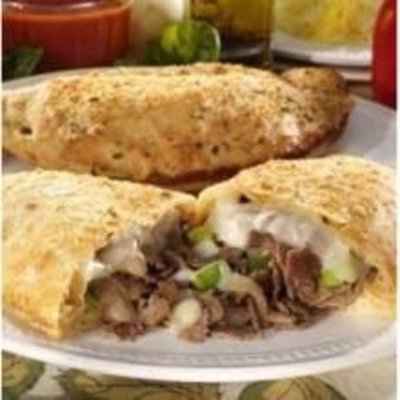 Stefano New York Style Steak and Cheese Calzone, 8 Ounce - 12 per case.